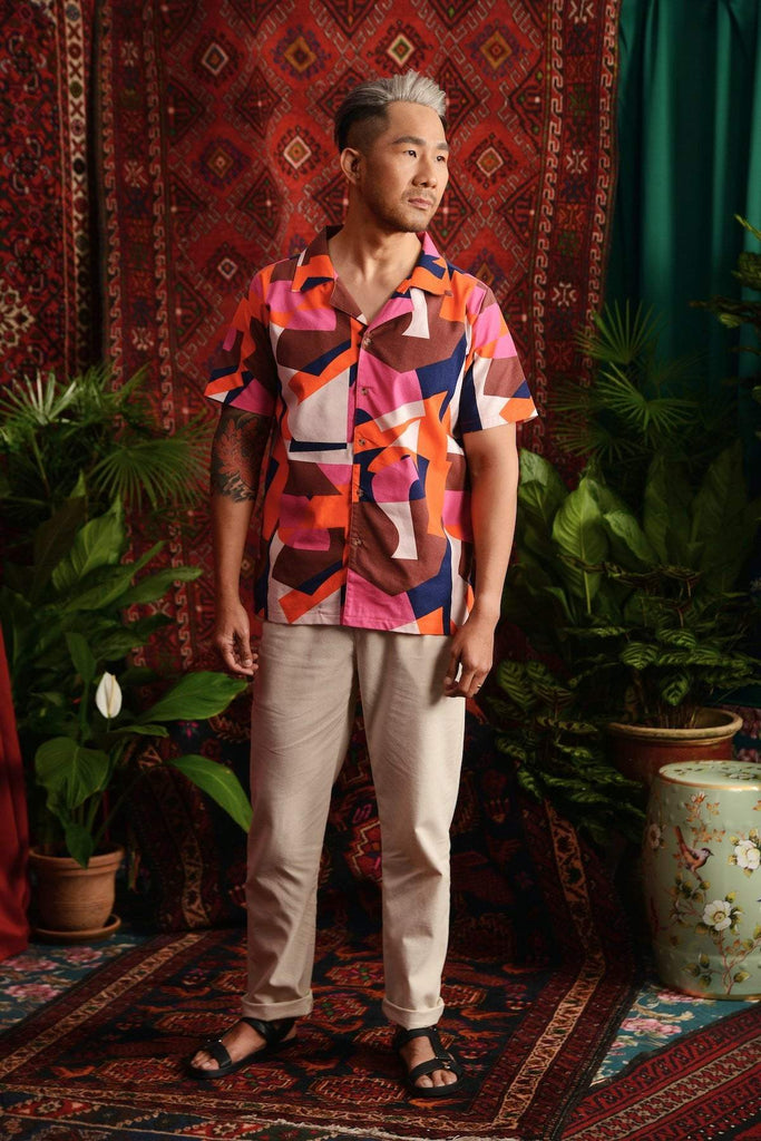 The Teratai Men Cuban Shirt - Malana - POKOKS.COM