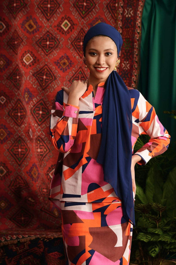 The Teratai Women Boxy Blouse - Malana - POKOKS.COM