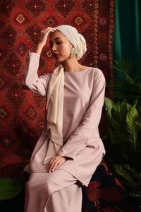 The Teratai Women Kameez - Dusty Pink - POKOKS.COM