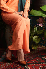 The Teratai Women Tulip Skirt - Orange