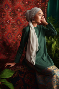 The Teratai Women Kameez - Dark Green - POKOKS.COM