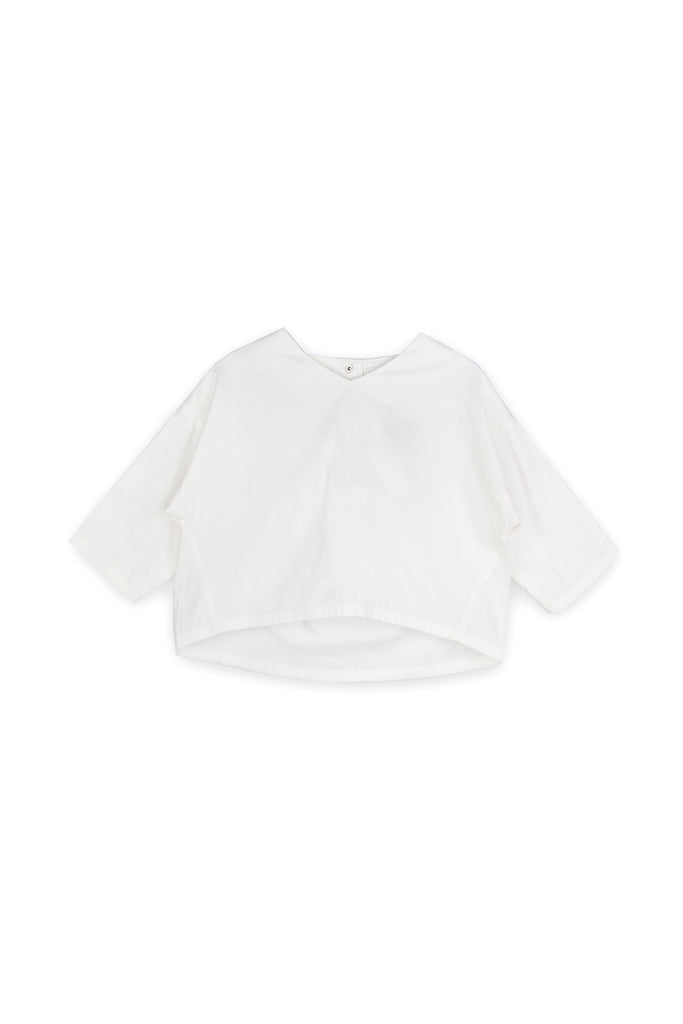 The Langit Origami Blouse - White