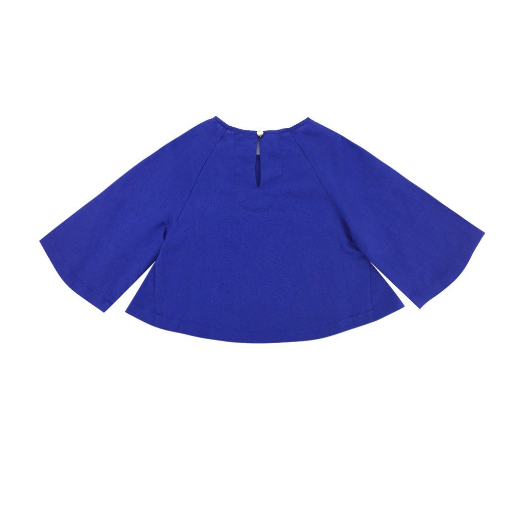 The WAU Kurung Blouse -Blue