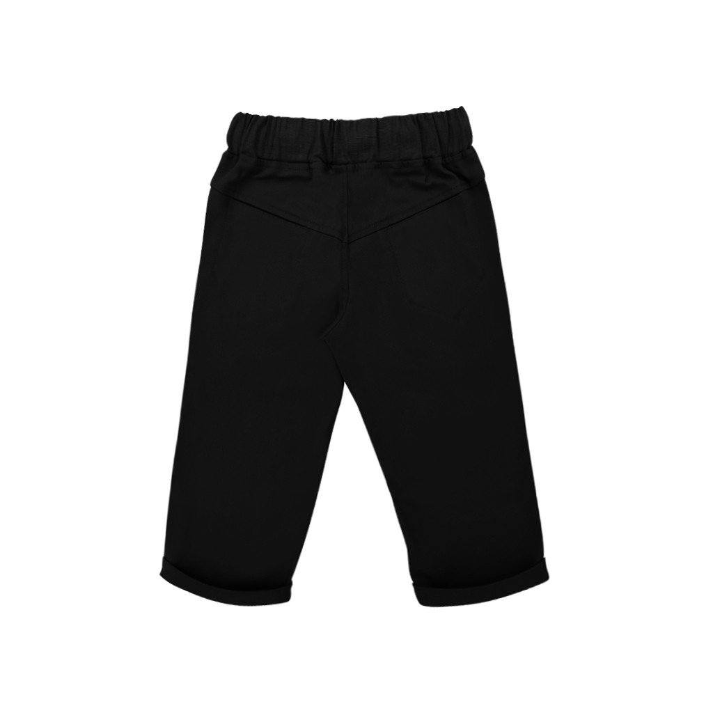 The WAU Cotton Tapered Pants - All Black