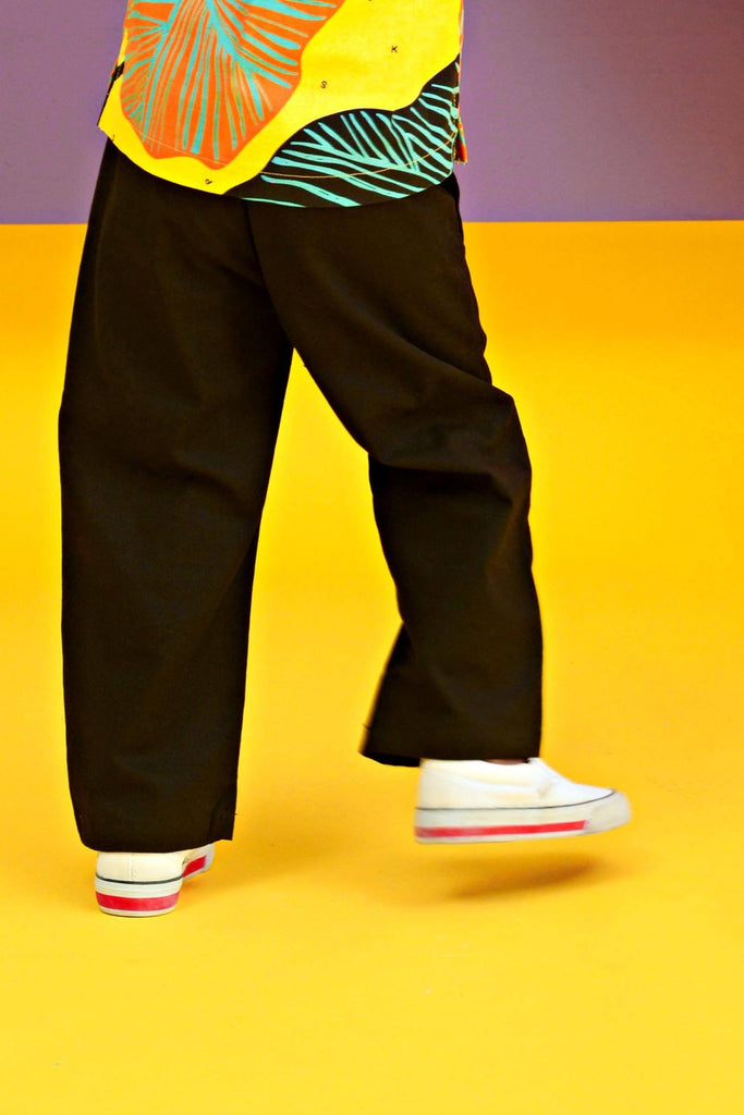 The KITA Straight Pants - Black