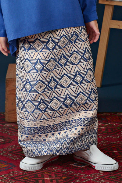 The Cerita Jacquard Skirt - Royal Blue