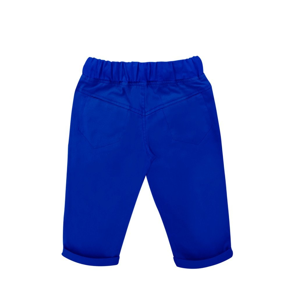The WAU Cotton Tapered Pants - Lapis blue