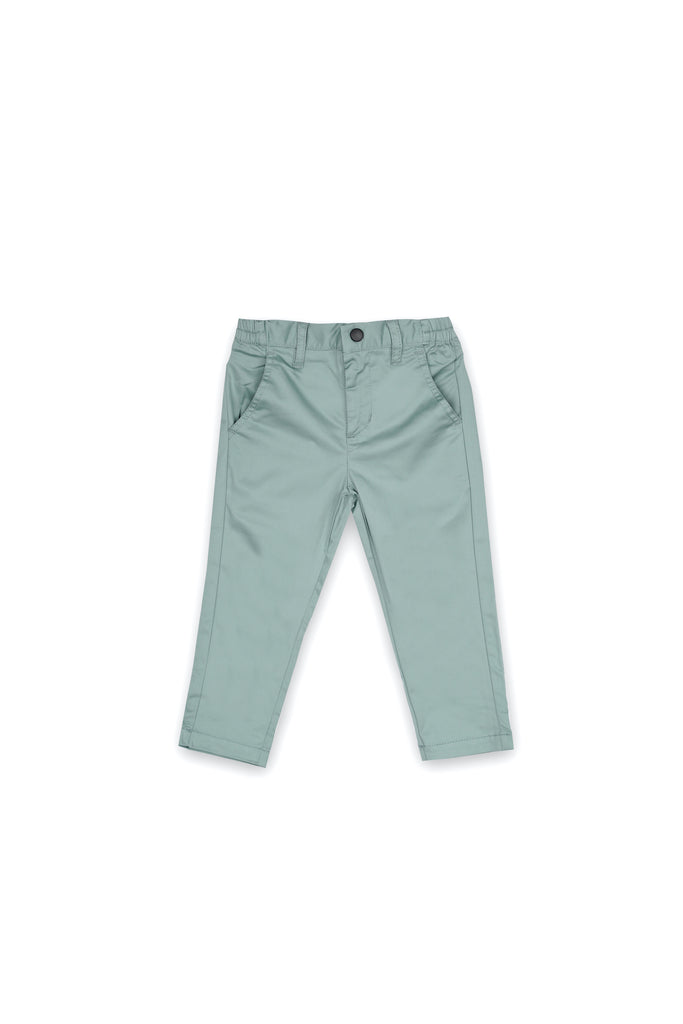 The Langit Slim Pants - Vegan Green