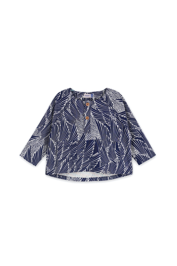 The Langit Raglan Sleeve Blouse - Borneo
