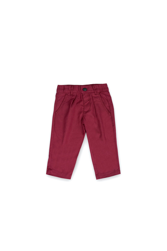The Langit Tapered Pants - Maroon