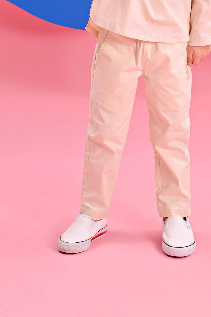 The Pelangi Tapered Pants - Cream