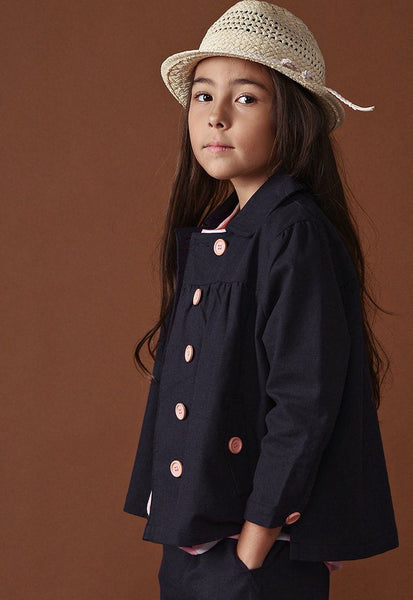 The Ingat Jacket Blouse - Dark Blue