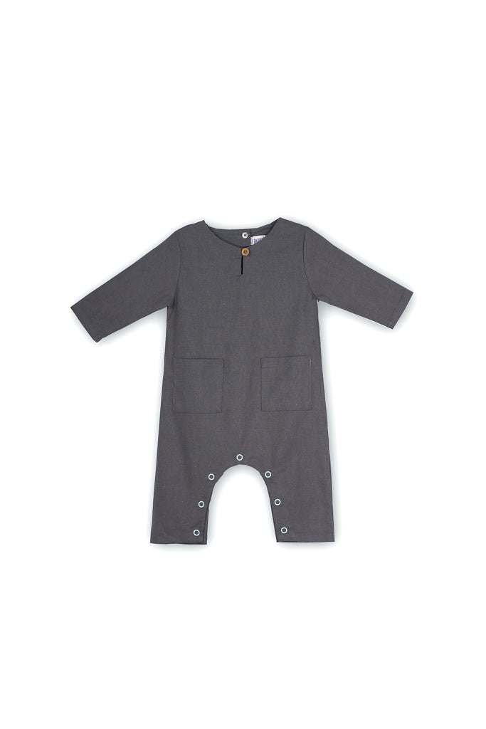 The Langit Babies Jumpsuit - Dark Grey