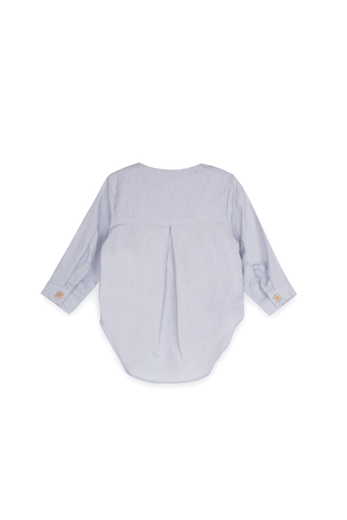 The Langit Kurta - Light Pigeon Blue