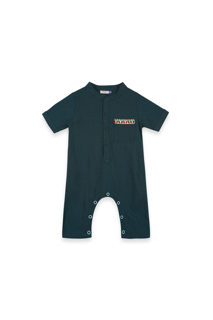 The Oasis Babies Jumpsuit - Emerald Green