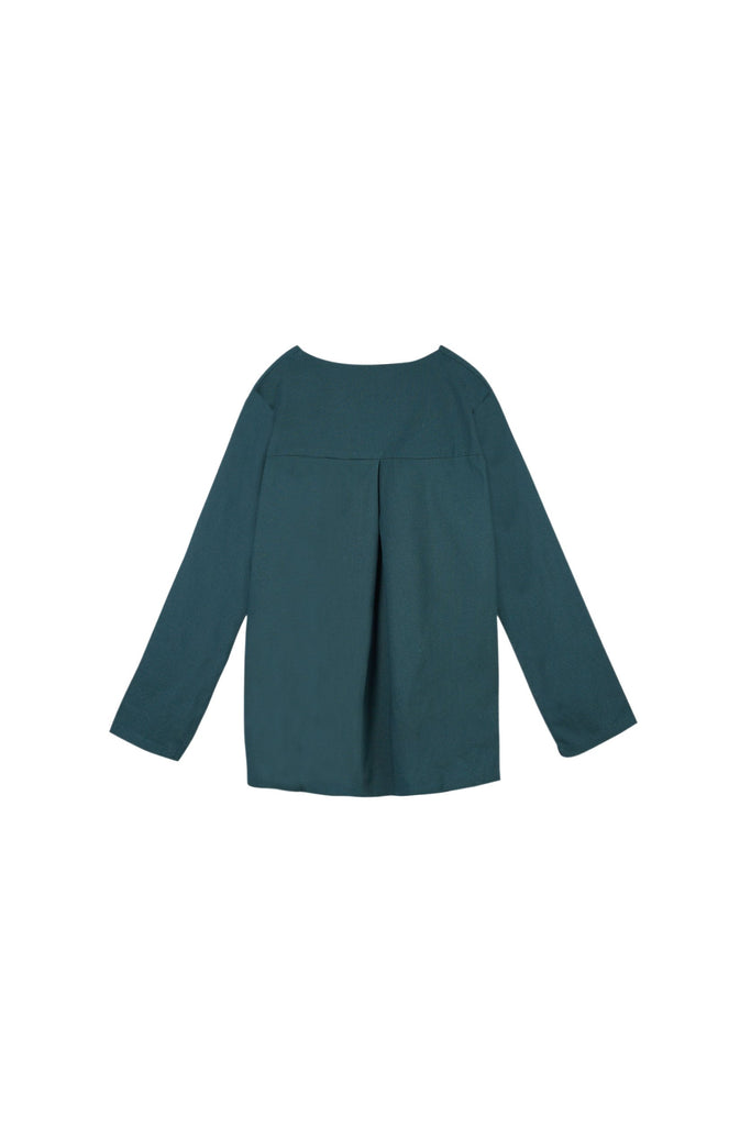 The Oasis Women Folded Back Blouse - Emerald Green
