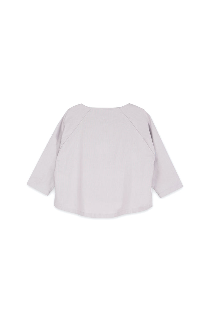 The Langit Raglan Sleeve Blouse - Light Grey
