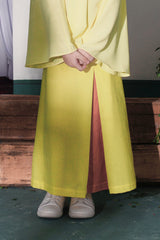 The Bayang Inverted Triangle Skirt - Lemon Yellow