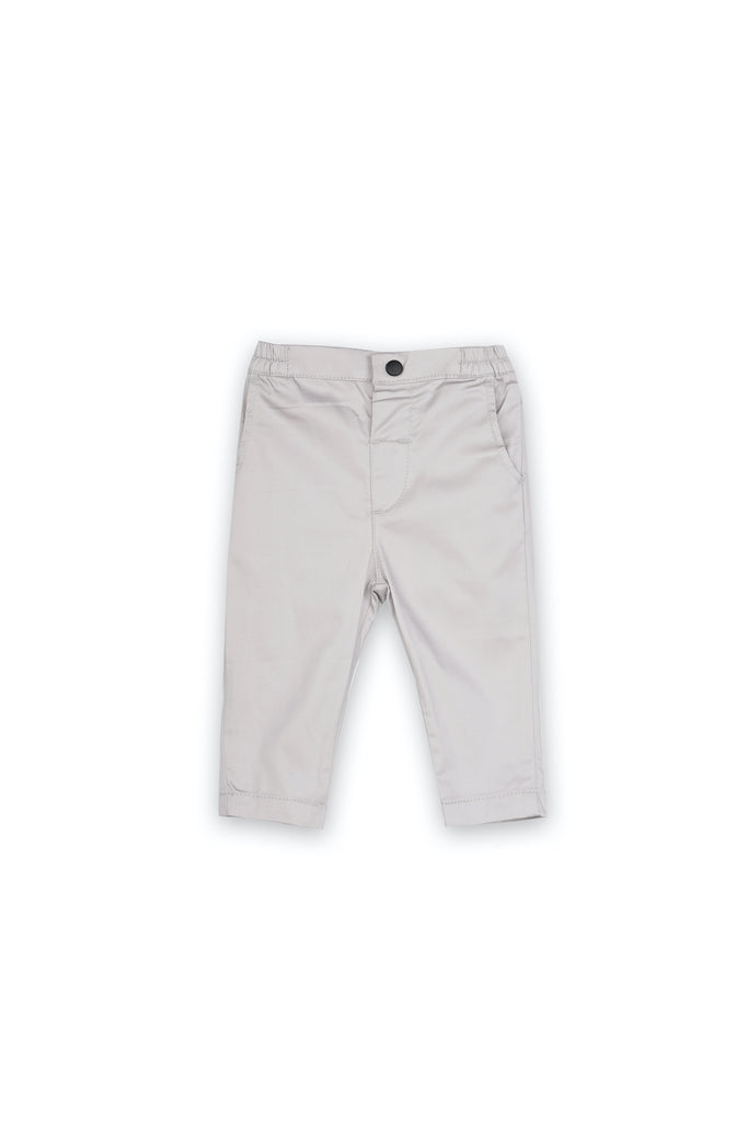 The Langit Babies Slim Pants - Light Grey