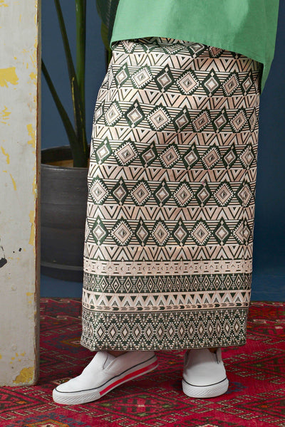 The Cerita Jacquard Skirt - Dark Olive