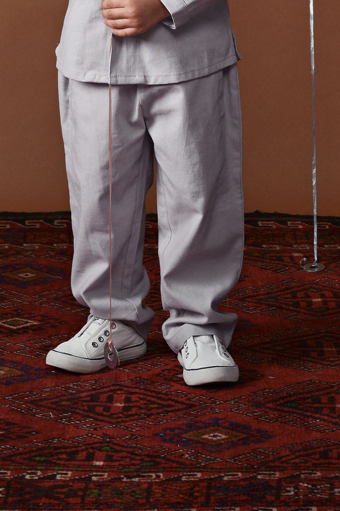 The Ingat Tapered Pants - Light Grey