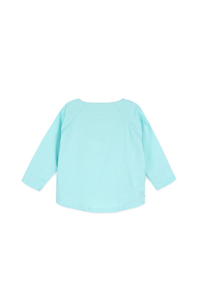 The Langit Raglan Sleeve Blouse - Tiffany