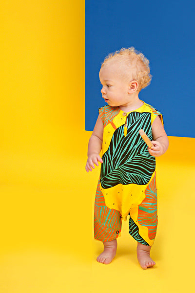 The KITA Babies Jumpsuit - Explorers Print