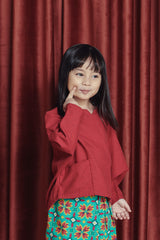 The Spring Kite Blouse - Ruby Red