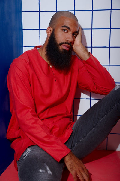 The KITA Men Kurta - Lobster Orange