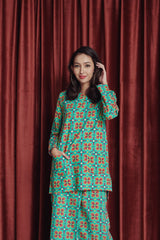 The Spring Women Kurti With Pockets - Spring Garden Print