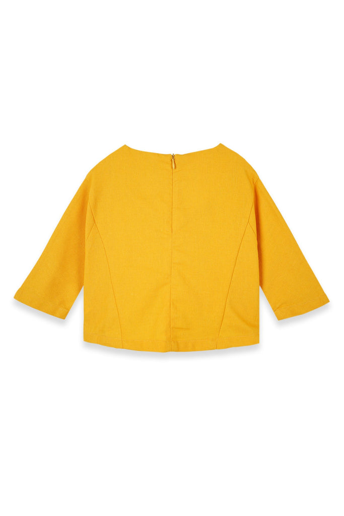 The Teratai Kite Blouse - Mustard