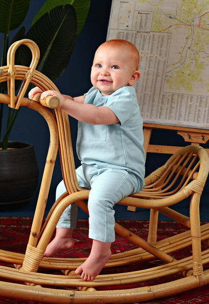 The Cerita Babies Jumpsuit - Light Blue