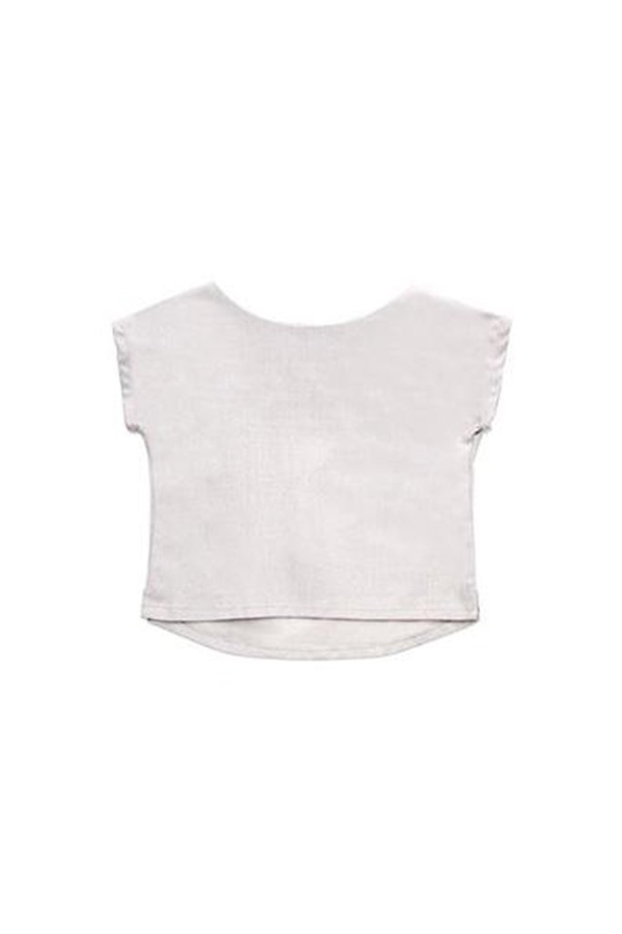 The Cerita Baby Hi-Lo Blouse - Light Grey