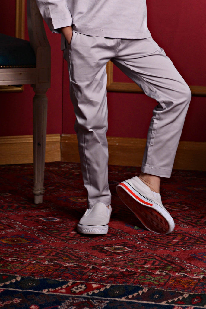 The PULANG Slim Pants - Light Grey