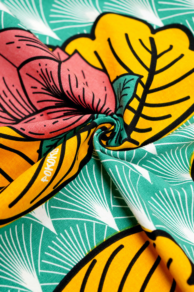 The Teratai Fabric - Magic Lotus Print