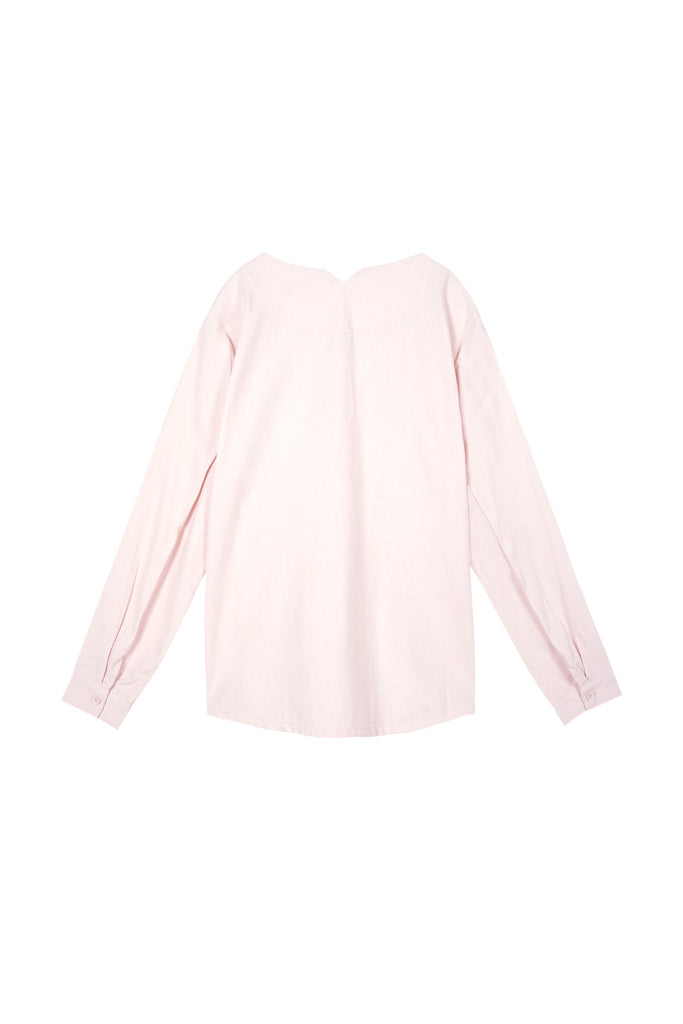 The Oasis Women Pleated Sleeve Blouse - Light Pink