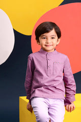 The Pelangi Kurta - Light Purple
