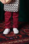 The TALI Slim Fit Pants - Maroon
