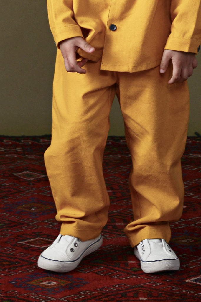 The Ingat Tapered Pants - Mustard