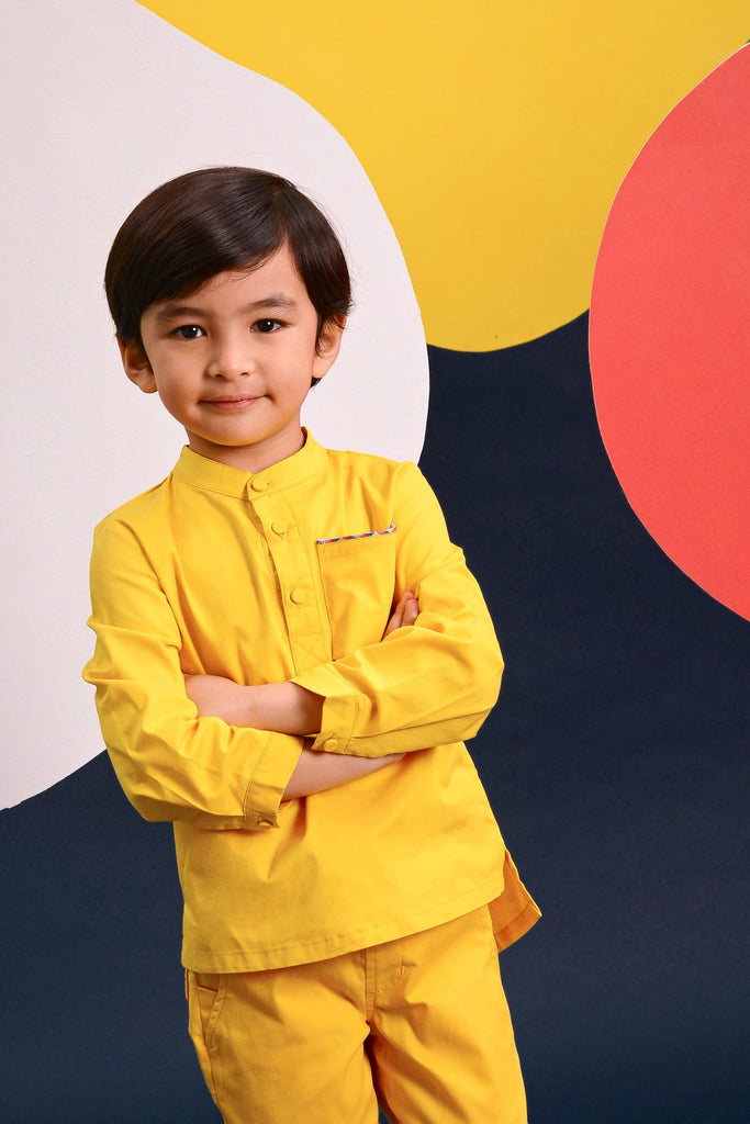 The Pelangi Kurta - Yellow