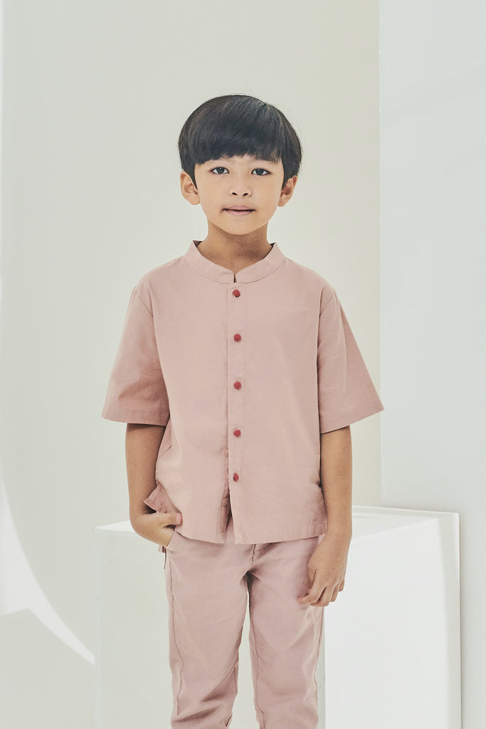 The Timur Oriental Shirt - Dusty Pink