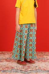 The Spring Overlay Trousers - Spring Garden Print