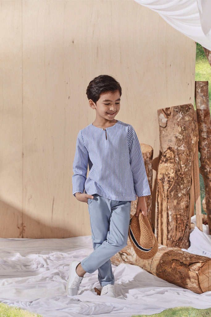 The Balik Kurta - Oxford Stripe