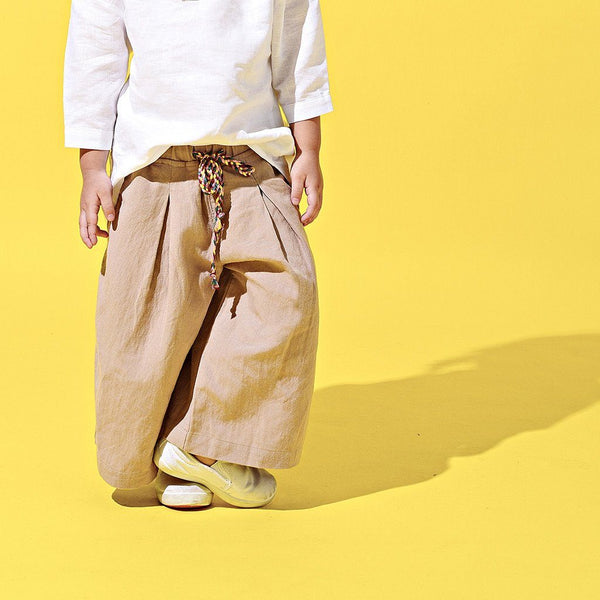 The LAGOM Unisex Wide Legged Pants - British Khaki