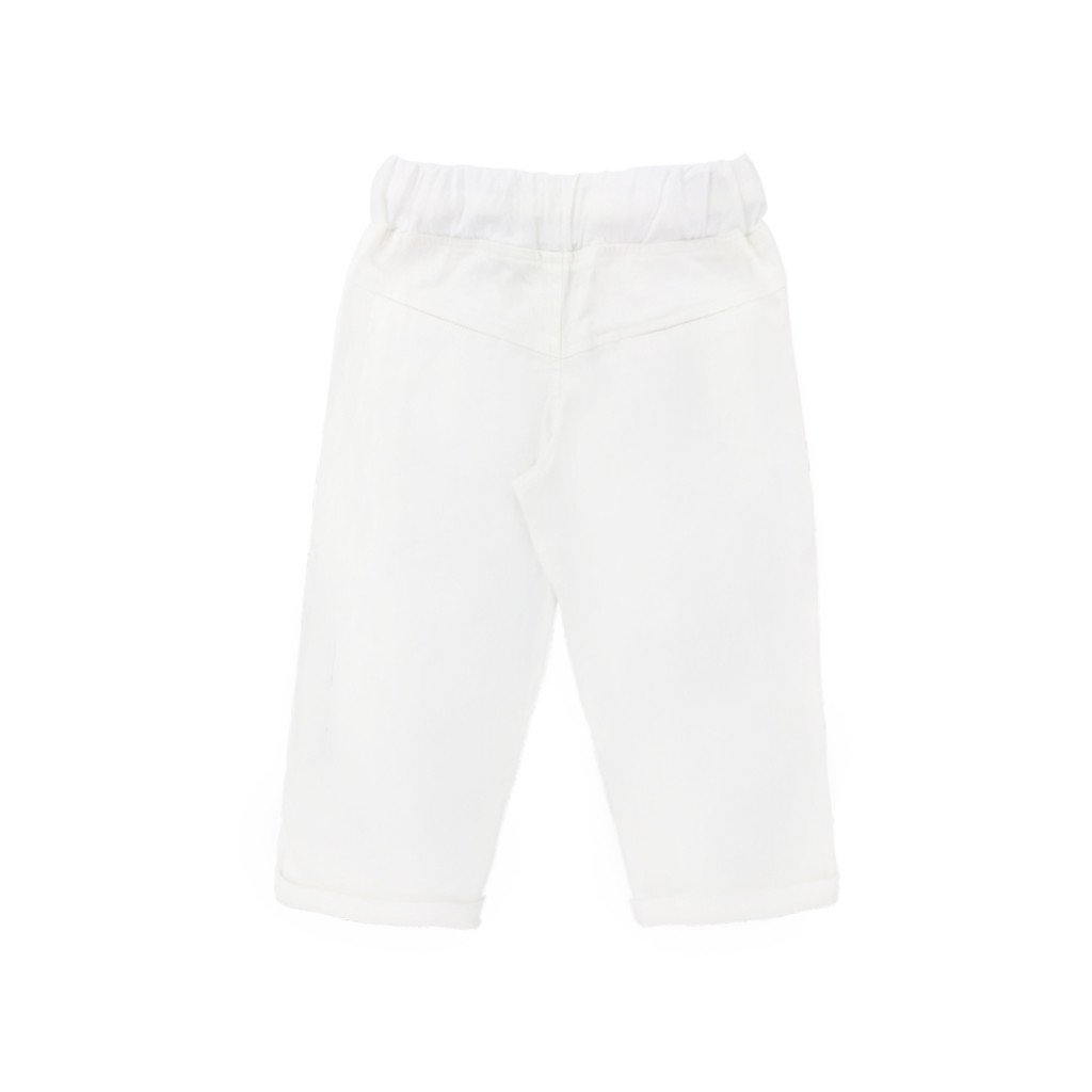 The WAU Cotton Tapered Pants - White