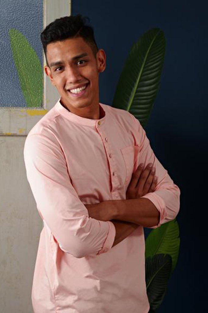 The Cerita Men Kurta - Peach