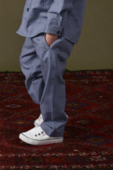 The Ingat Tapered Pants - Pigeon Blue