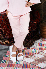 The WAU Cotton Skinny Pants - Pale Pink