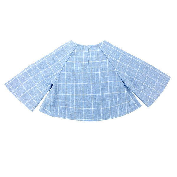 The WAU Checked Blouse - French Blue