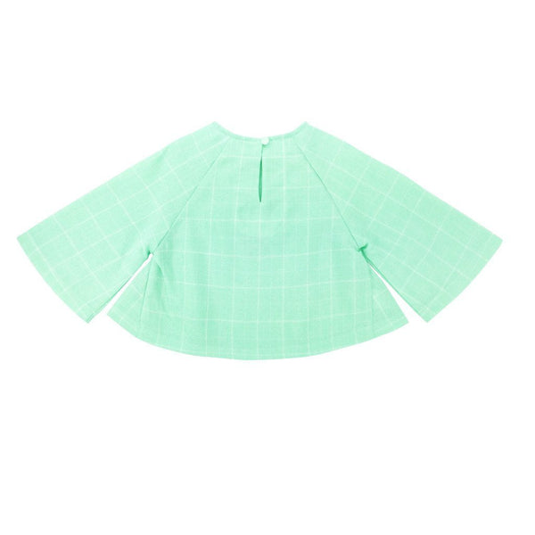 The WAU Checked Blouse - Mint Green